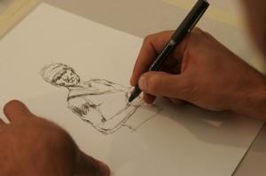 Sceneggiatura mia, disegni miei, chine anche. Che scuola fare? Il tecnico! Genio...