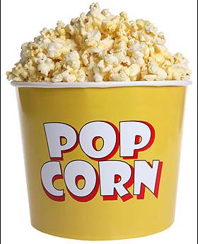 E come quel bambino con la voce di Villaggio, chiederò: Popcorn, popcorn, popcorn