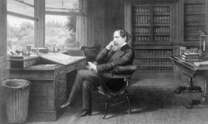Charles Dickens nel suo studio