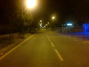 Rovereto deserta di notte