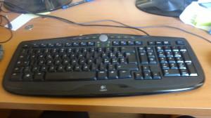 La mia povera tastiera, su cui non si leggono più la A, la I, la O e la L.