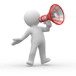 La vostra voce è come amplificata da un megafono