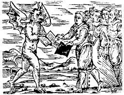Il patto in un'illustrazione del medioevo