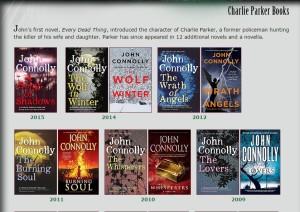 Uno screen dal sito dell'autore: vedete quanto siamo rimasti indietro? http://johnconnollybooks.com/